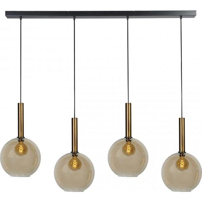 Masterlight Hanglamp Bella 4lichts antiek messing