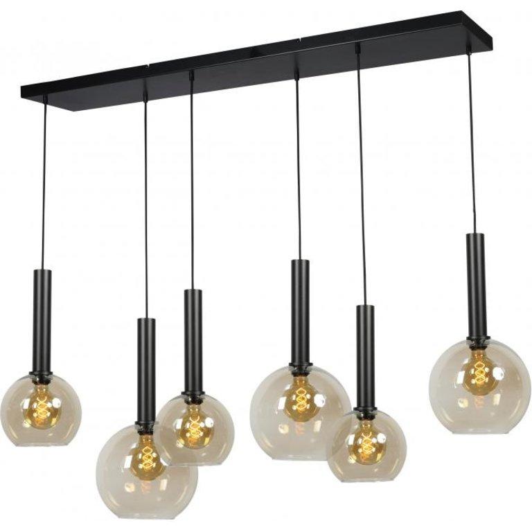 Masterlight Hanglamp Bella 6lichts mat zwart