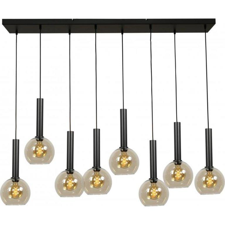 Masterlight Hanglamp Bella 8lichts mat zwart