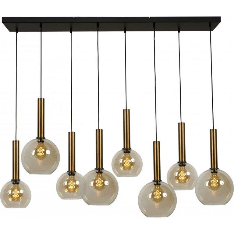 Masterlight Hanglamp Bella 8lichts antiek messing