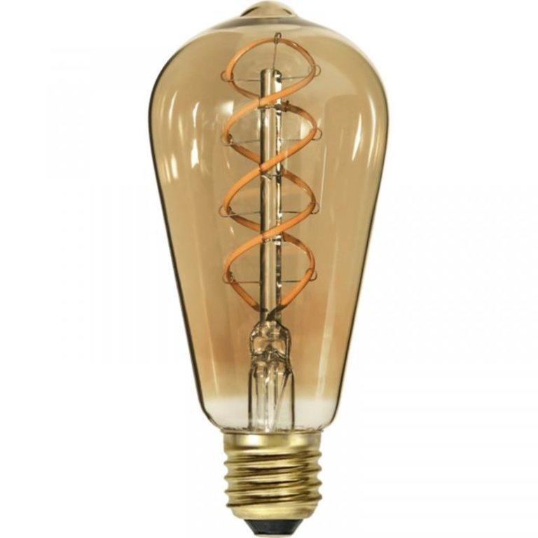 Highlight E27 LED Edisonlamp - 9W dimbaar - amber