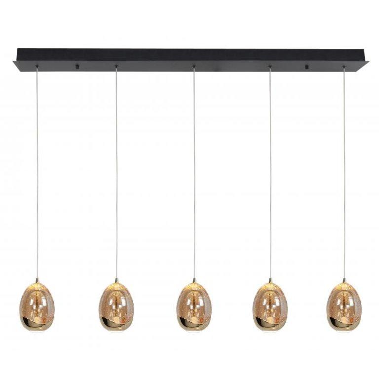 Highlight Hanglamp Golden Egg 5-lichts Recht