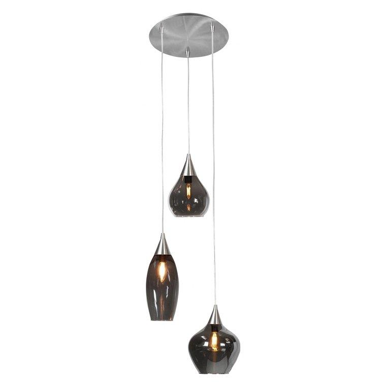 Highlight Hanglamp Cambio 3-lichts Nikkel