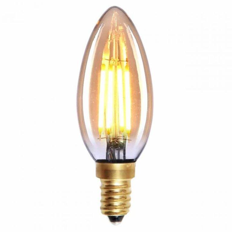 Highlight E14 LED filament kaarslamp - 4W dimbaar - amber