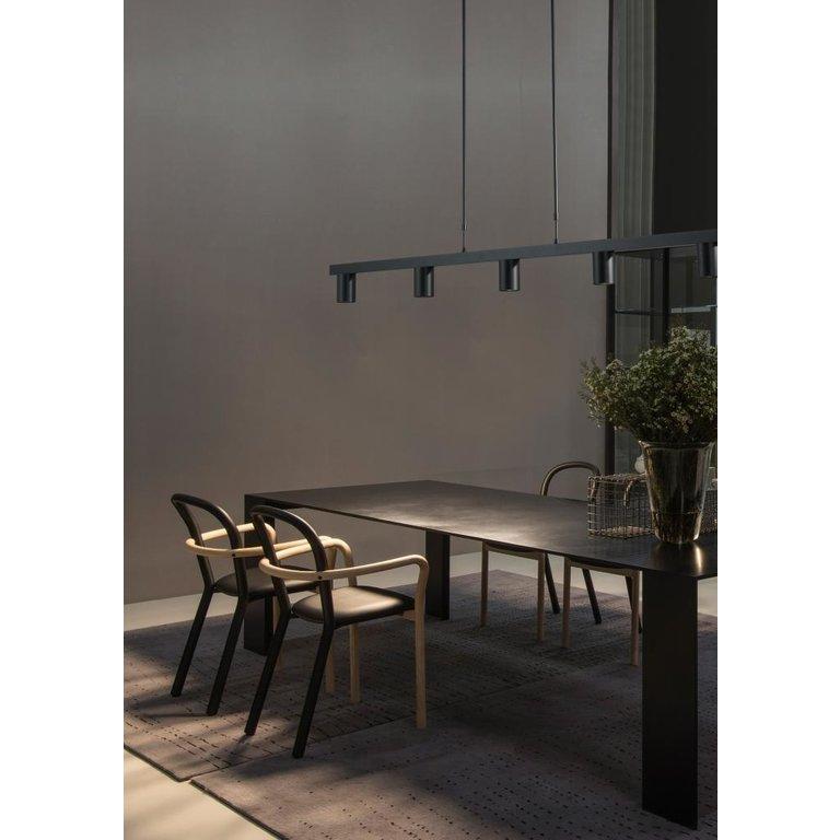 Masterlight Hanglamp Bounce 5lichts zwart 130 cm