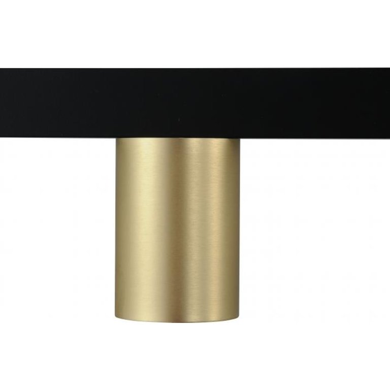 Masterlight Hanglamp Bounce 5lichts zwart met mat goud 130 cm
