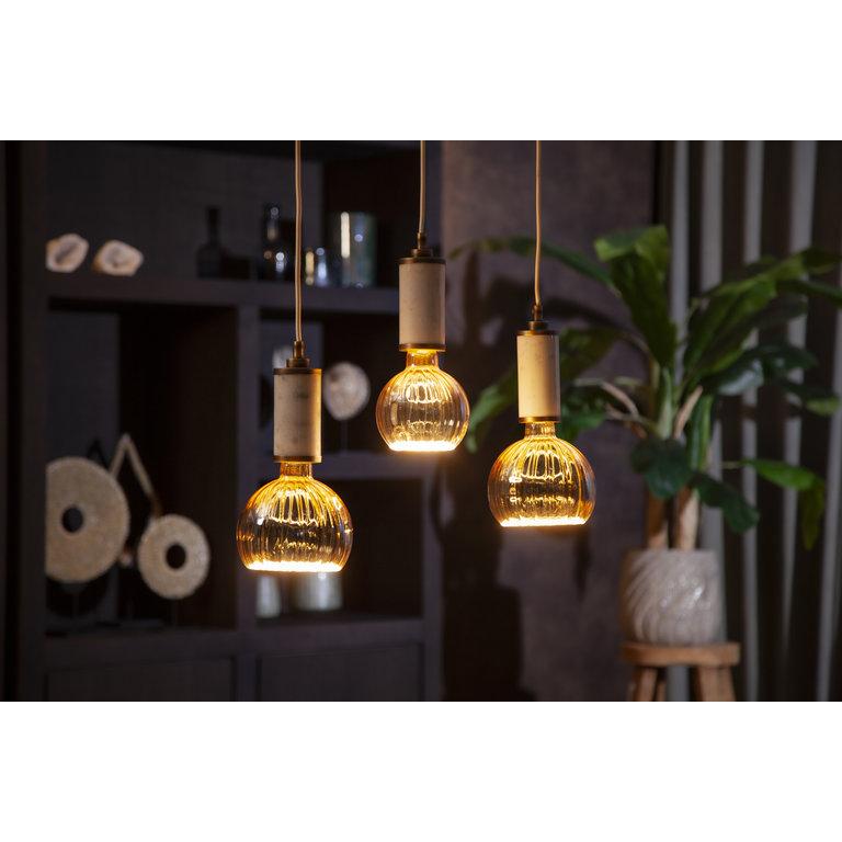 Segula Segula LED lamp E27   Floating Globe 125 mm   Goud Geribbeld