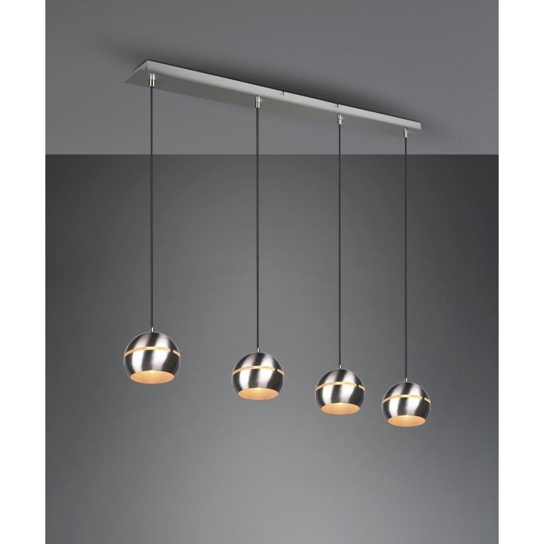 Trio Hanglamp Fletcher Nikkel