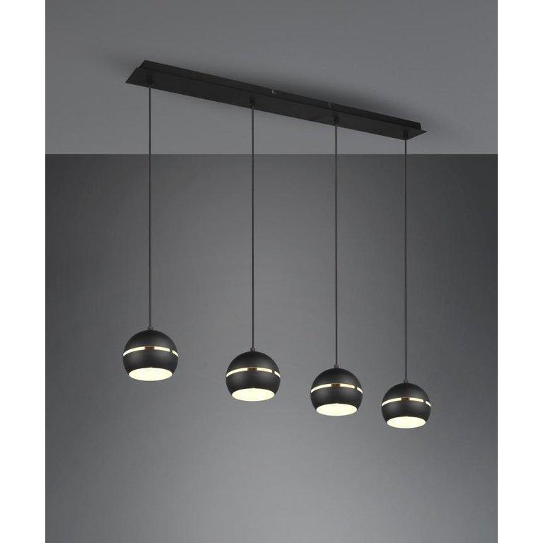 Trio Hanglamp Fletcher Zwart