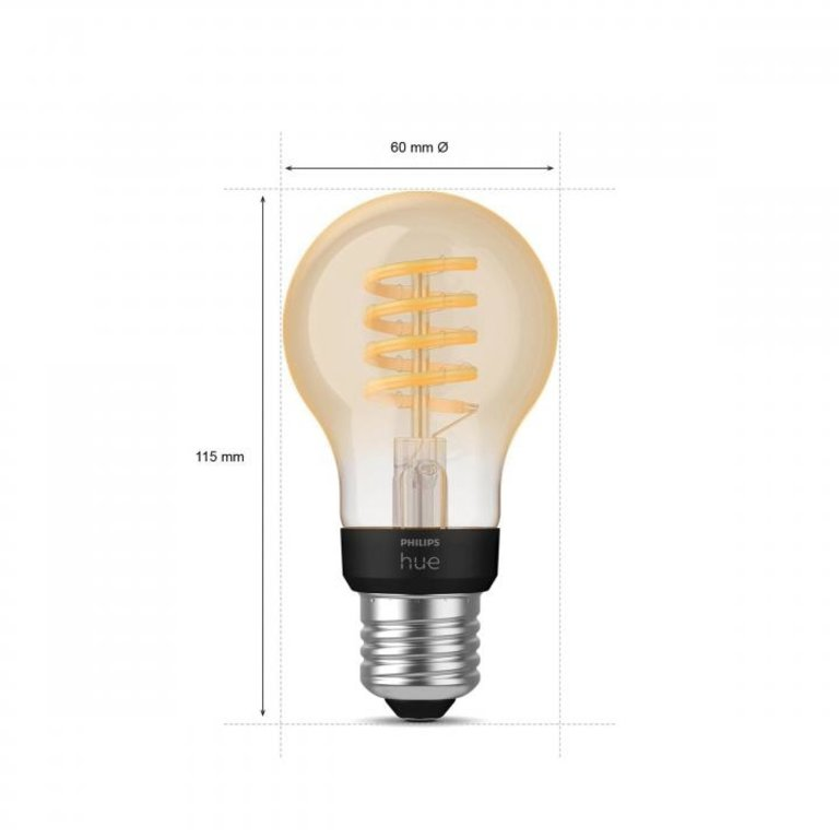Philips Philips Hue White Ambiance Filament E27 standaardlamp A60