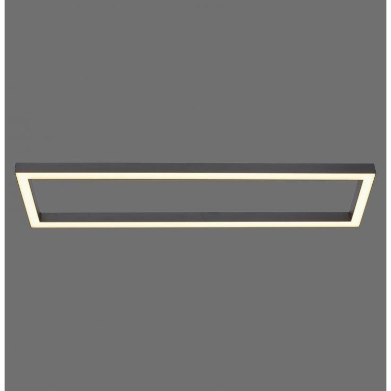 Paul Neuhaus Plafondlamp Pure-Lines Antraciet Rechthoek