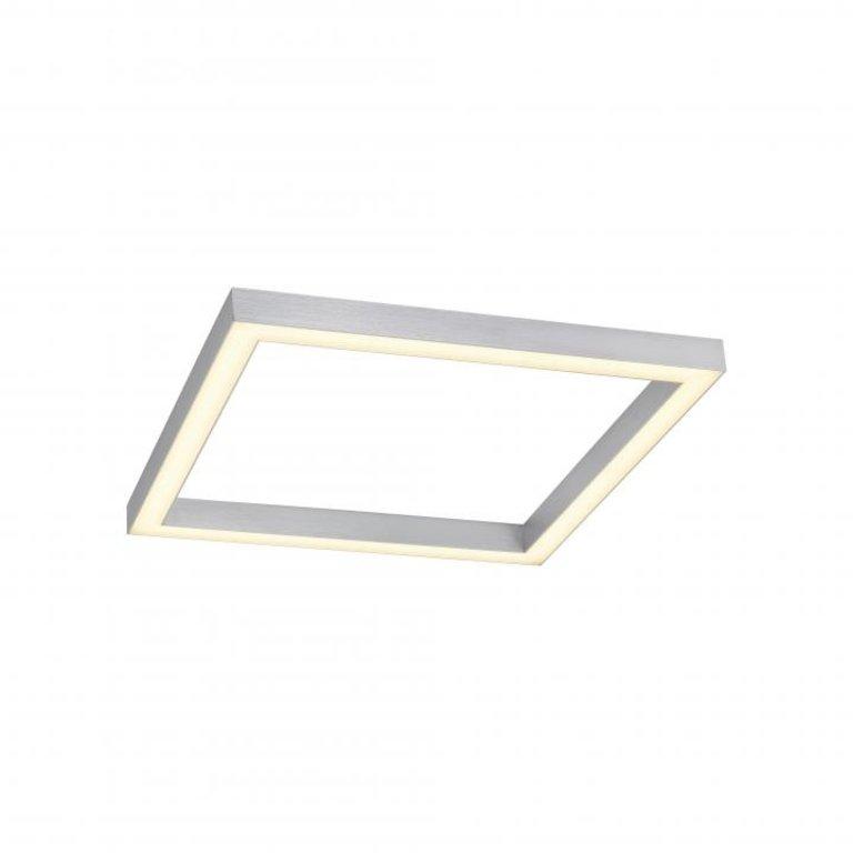 Paul Neuhaus Plafondlamp Pure-Lines Aluminium Vierkant