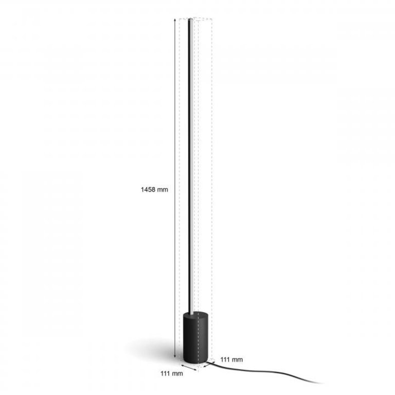 Philips Philips Hue vloerlamp Gradient Signe zwart