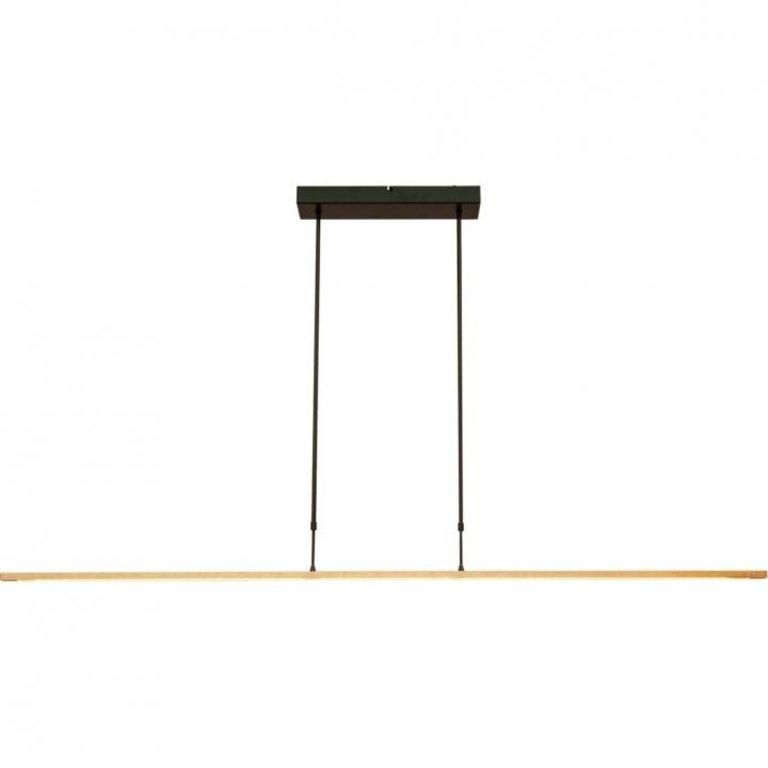 Masterlight Hanglamp Real 3 zwart nikkel met goud 160 cm