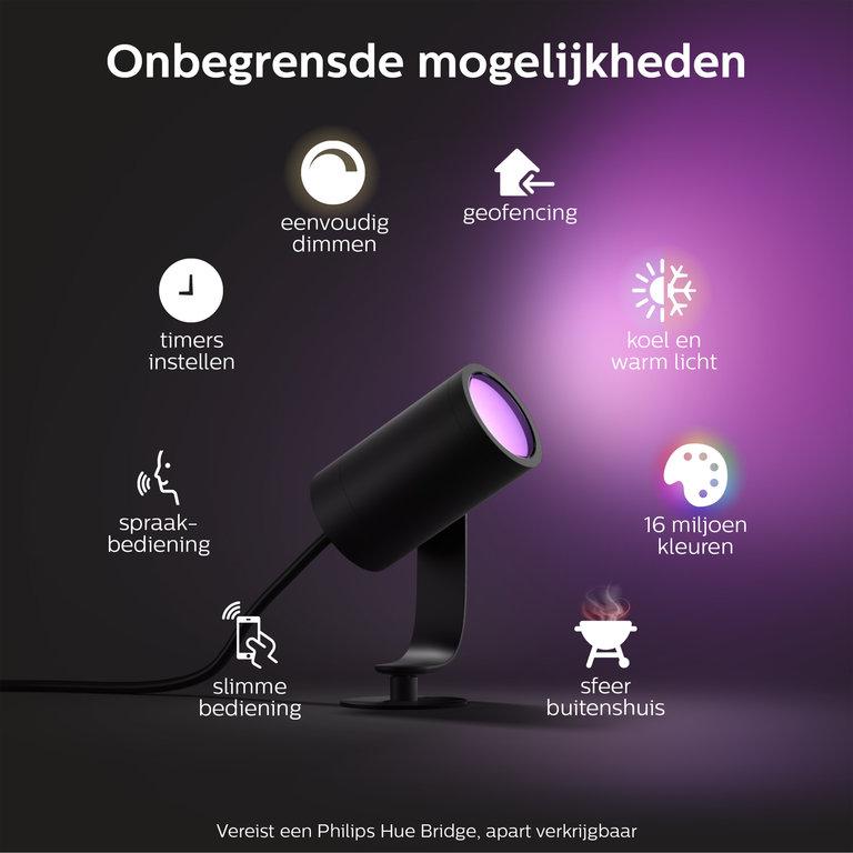 Philips Buitenlamp Philips Hue Lily zwart (3x8W) Basis