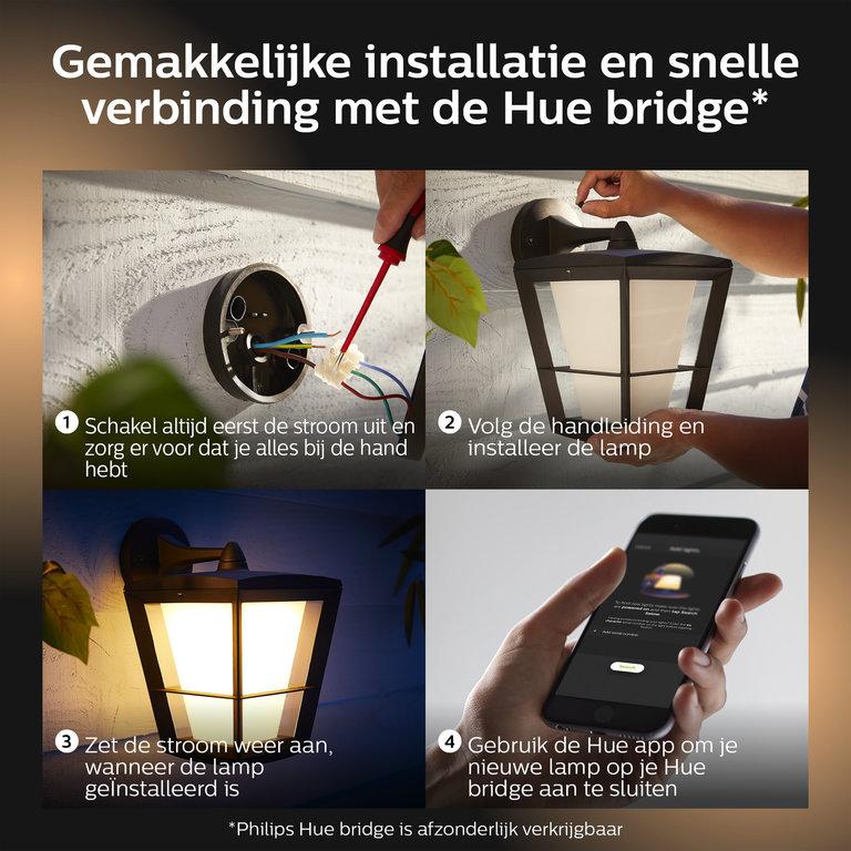 Philips Buitenlamp Philips Hue Econic WACA 15W wand down