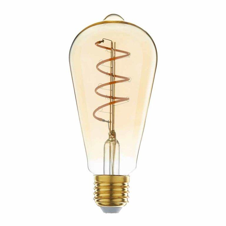 Highlight E27 LED Edisonlamp - 4W dimbaar - amber
