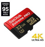 SanDisk SANDISK 32GB MICRO SD EXTREME PRO UHS-I U3 95MB/S inclusief adapter