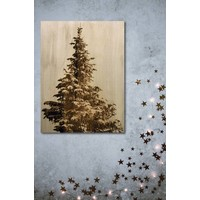 Christmas tree wooden wall decoration