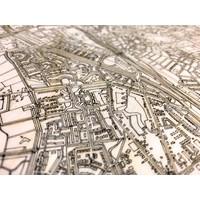 Citymap Zwolle | houten wanddecoratie