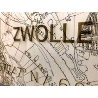WOODEN WALL DECORATION ZWOLLE CITYMAP
