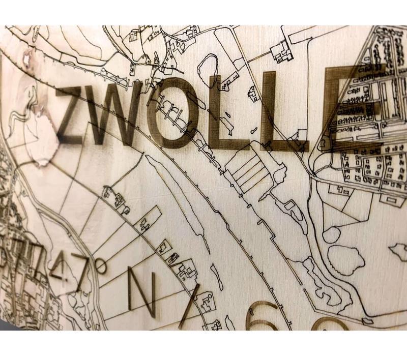 Stadtplan Zwolle | Wanddekoration Holz