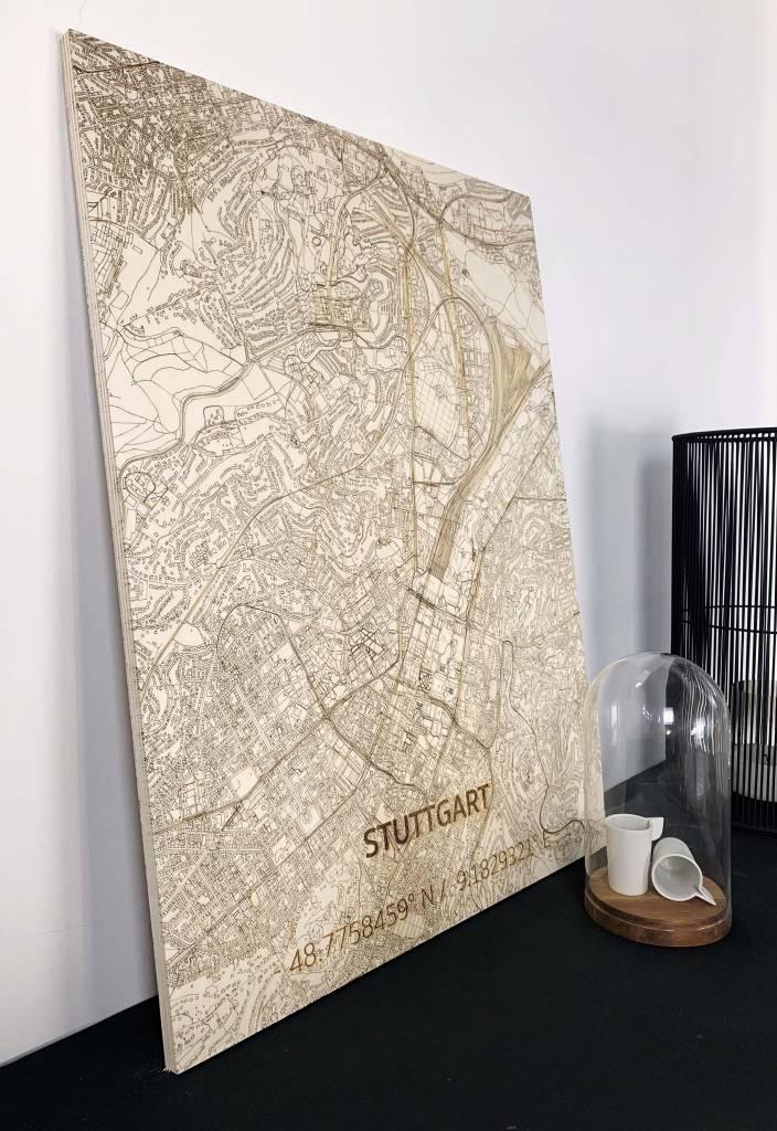 WOODEN WALL DECORATION STUTTGART CITYMAP-2