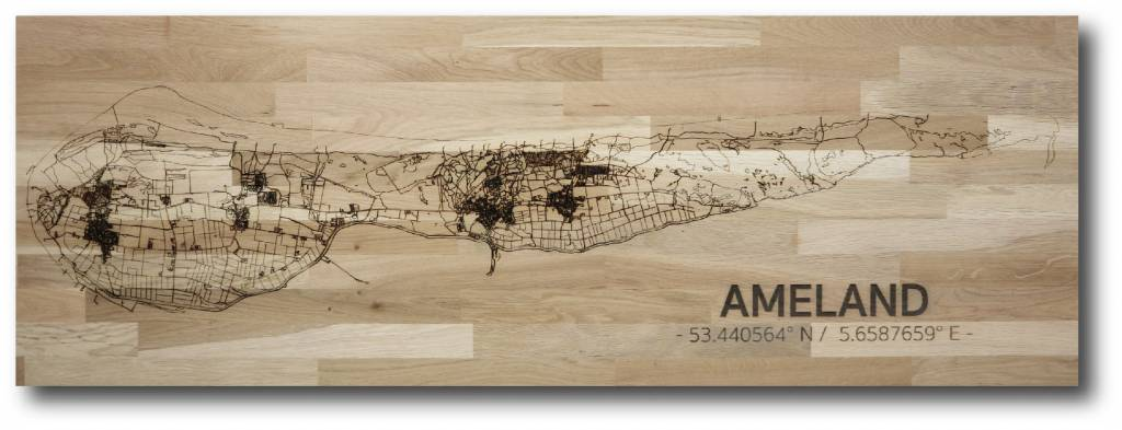 Citymap Ameland | wooden wall decoration-1