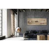 Stadtplan Ameland | Wanddekoration Holz