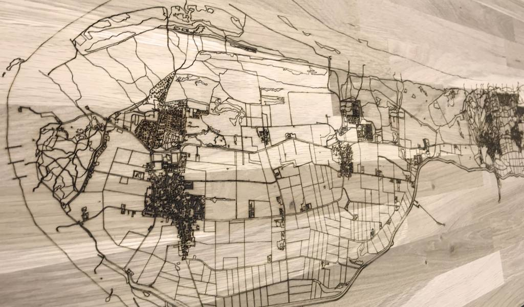 Citymap Ameland | wooden wall decoration-3