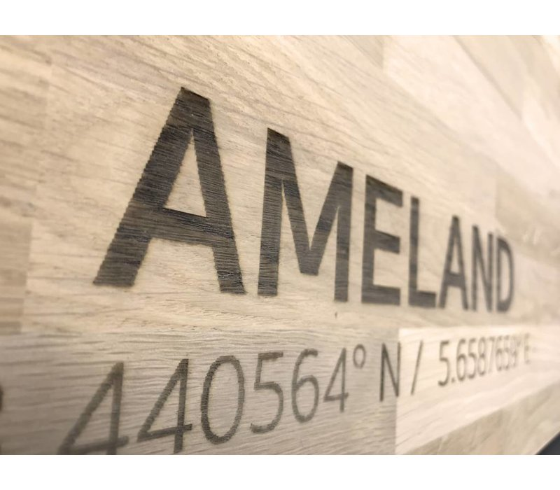 Citymap Ameland | wooden wall decoration
