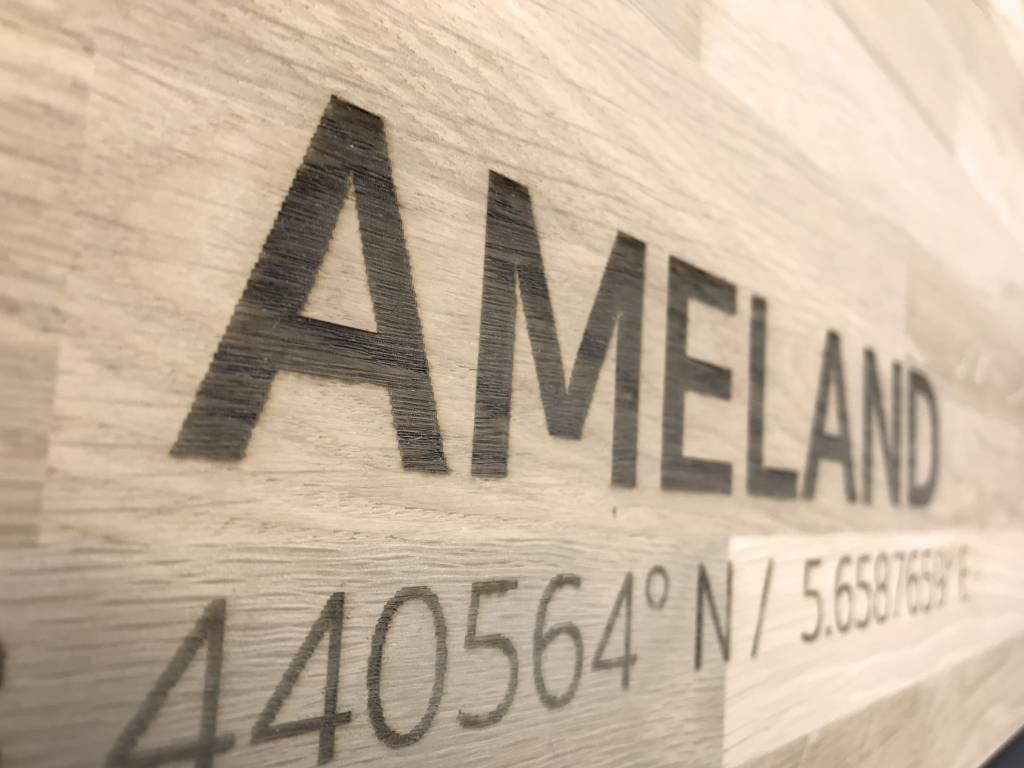 Citymap Ameland | wooden wall decoration-4