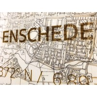 Citymap Enschede | wooden wall decoration