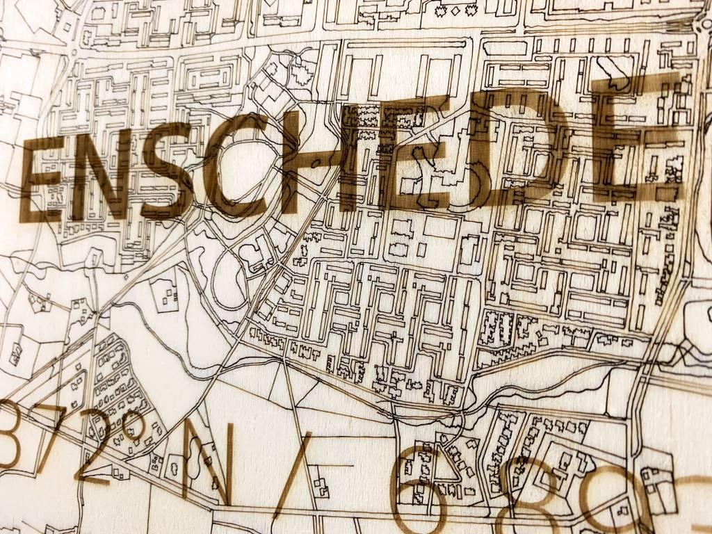 Citymap Enschede | houten wanddecoratie-3