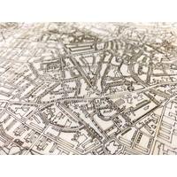 Stadtplan Enschede | Wanddekoration Holz