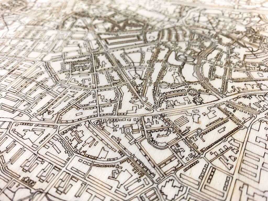 Citymap Enschede | houten wanddecoratie-4