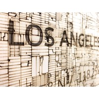 WOODEN WALL DECORATION LOS ANGELES CITYMAP