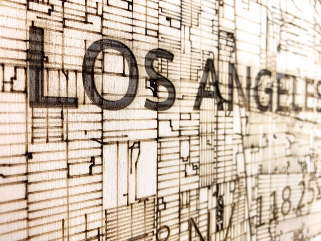 WOODEN WALL DECORATION LOS ANGELES CITYMAP-3