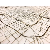 Stadtplan Peking | Wanddekoration Holz