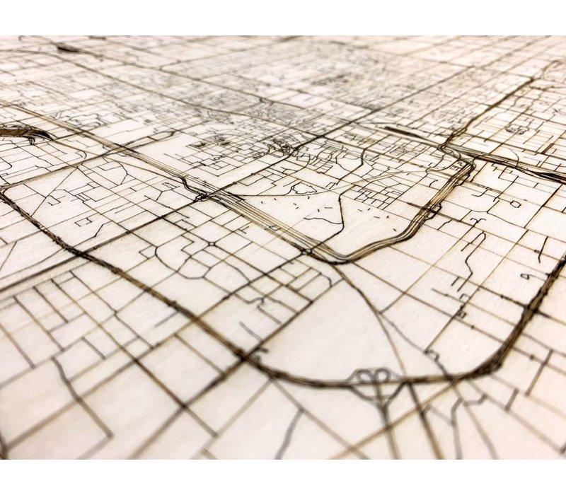 Citymap Peking | houten wanddecoratie