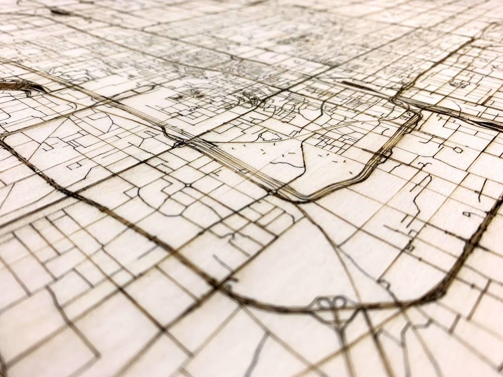 Citymap Peking | houten wanddecoratie-4