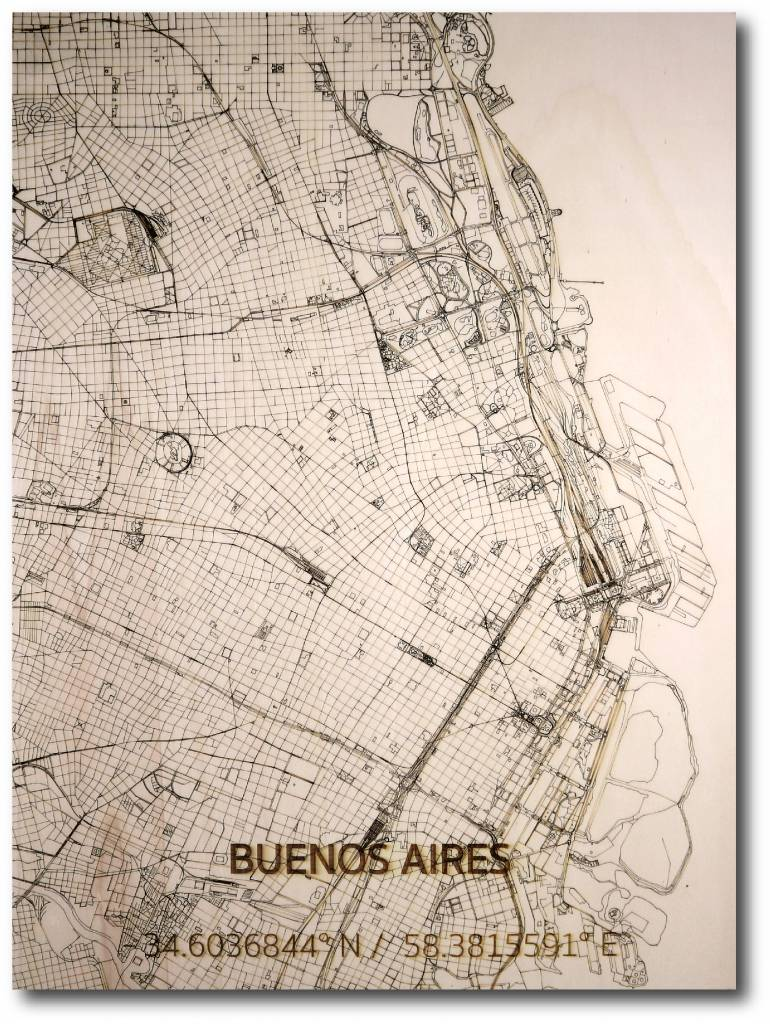 WOODEN WALL DECORATION BUENOS AIRES CITYMAP-1