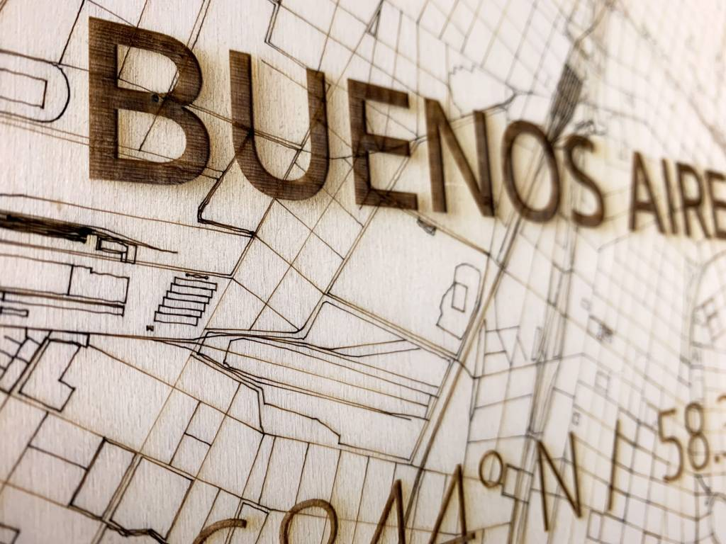 WOODEN WALL DECORATION BUENOS AIRES CITYMAP-3