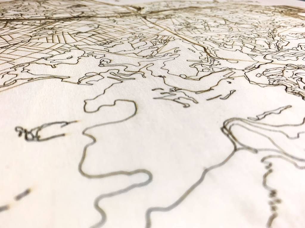 Citymap Rio de Janeiro  | houten wanddecoratie-3