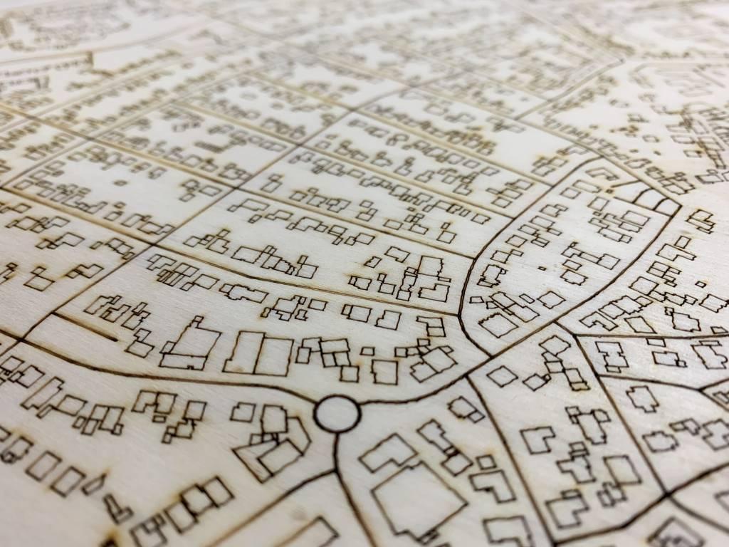 Stadtkarte Vreden | Wanddekoration Holz-4