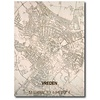 Citymap Vreden | houten wanddecoratie