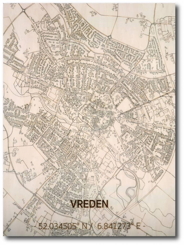 Stadtkarte Vreden | Wanddekoration Holz-1