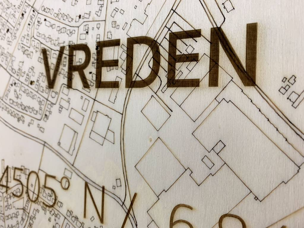 Stadtkarte Vreden | Wanddekoration Holz-3
