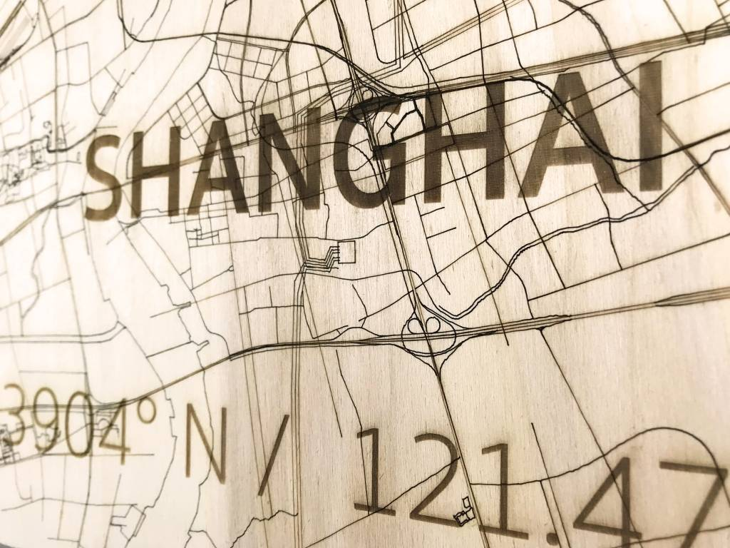 WOODEN WALL DECORATION SHANGHAI CITYMAP-3
