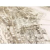Stadtplan New York | Wanddekoration Holz